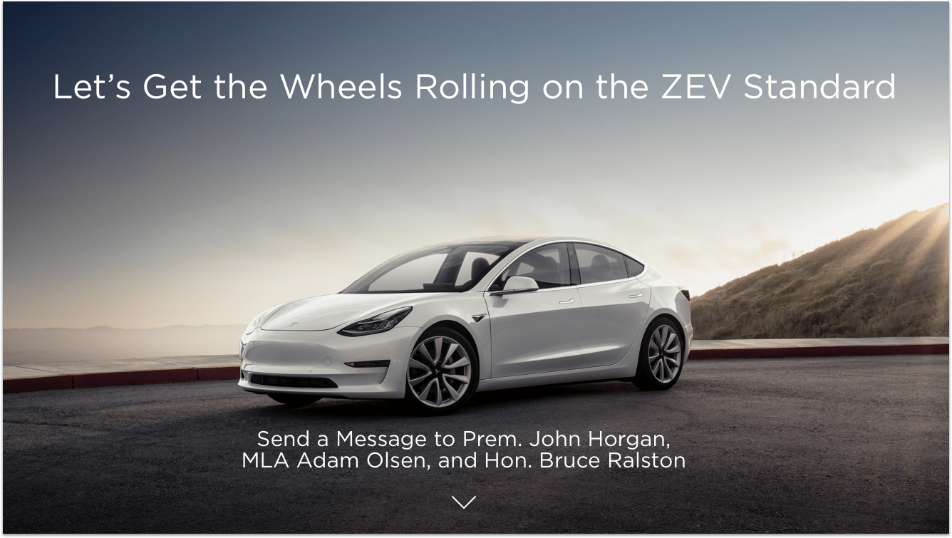 Let's get the wheels rolling on the ZEV Standard.